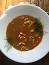 Crawfish bisque at Erling Jensen: The Restaurant.