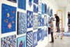 """Blue: A Regional Quilt Challenge,"" curated by Paula Kovarik, is on display at Crosstown Arts."