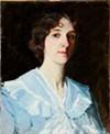 Self-Portrait in Blue Dress
