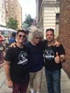 Emcee Sam Prager, Yours Truly, and Bardog owner Aldo Dean at Breakaway Bardog 5K & Monroe Avenue Festival