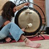 Looking for a way to quiet the mind? Try this — bang a gong, get it on, and a bang a gong.