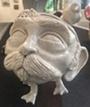 Peyton LaBauve's porcelain <i>Don DuMonster (Smoking Pipe)</i> at this year's Horn Island exhibition