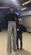 Nathan Reisman and a shorter fellow at Exposure,