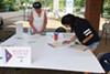 A voter registration event at University of Memphis last year