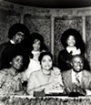 Back: Mr. & Mrs. Marvell Thomas, Vaneese Thomas; Front: Carla, Lorene, and Rufus Thomas