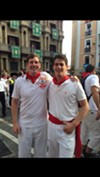 Brian Kelsey Runs With the Bulls in Pamplona, Rocks Cute Red Scarf