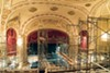 Scaffolding inside the Orpheum as renovation work is underway