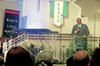 The Rev. Lawrence Turner asks audience to elect Clinton in honor of Dr. King and President Obama.