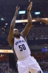 Zach Randolph struggled on defense and only finished with 12 and 11.