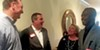 Trustee David Lenoir, Germantown Mayor Mike Palazzolo, School Board candidate Mindy Fischer, and former County Commissioner James Harvey at weekend meet-and-greet