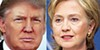 Two candidates — Republican presidential nominee Donald J. Trump (left) and Democratic nominee Hillary Clinton