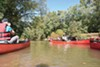 Paddlers hit the Wolf River.