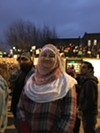"""Trudy Francis of Little Rock, Arkansas traveled to Memphis last night specifically for the pro-immigration march. """"I can trace my heritage in this country further back than Donald Trump."""""""