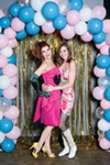 Scenes from bubblePOP's '80s prom party, Bridget Wells and Kristi Ryan at left