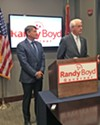 Boyd (l) and Luttrell at endorsement ceremony