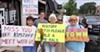 Indivisible group at Pickering protest