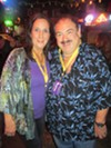 Sharon Gray and Kris Kourdouvelis at Howl at the Moon.