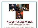 Acoustic Sunday Live! featuring Tom Paxton, Mary Gauthier, and Gretchen Peters