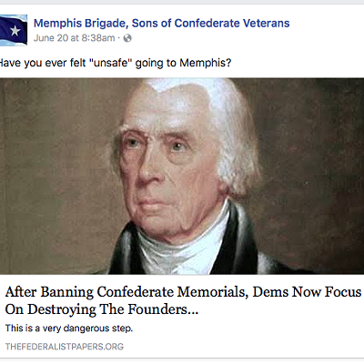Memphis Brigade of the Sons of Confederate Veterans Facebook Posts & Comments