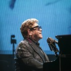 "Vivid images from Elton John's ""Farewell Yellow Brick Road"" show on October 30, 2019."