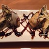 East Tapas' Spinach Artichoke Spring Rolls