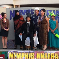 Memphis Unafraid UndocuBus members parody immigration laws during a skit