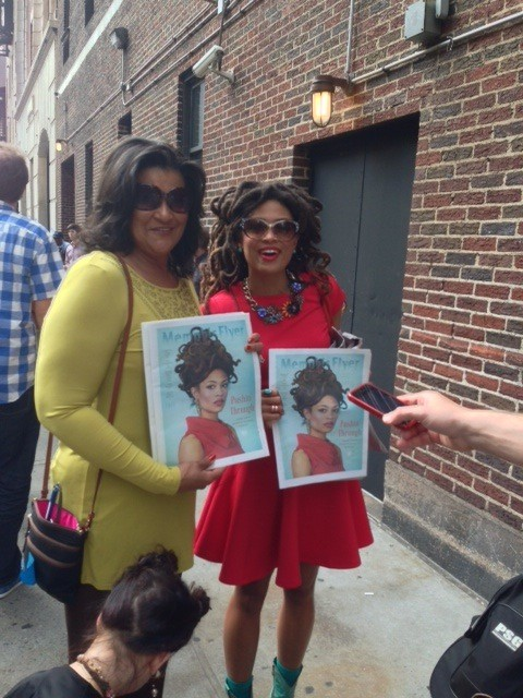 Valerie June outside Late Show with David Letterman studios.
