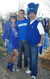 Vanna, Nick, and Steve Thornburg in Little Rock to cheer on the Tigers