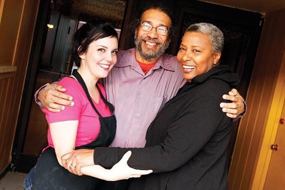 Vicki Newsum, Ernest Hall, and Xena Lovelady
