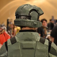 MidSouthCon 32 Video games made a big appearance, like this attendee dressed as Master Chief from the Halo video game franchise. Lisa Elaine Babb