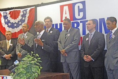 Wharton with (l to r) Moore, Miller, Strickland, Jones, Carpenter, and Ford Jr. - JB