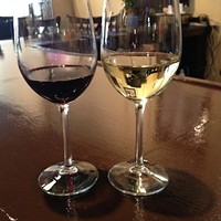 Wine is dispensed in two and four ounce pours. Six ounce pours are available if you find something you really like.