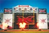 XFL scoreboard at Liberty Bowl Stadium