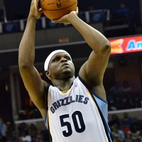 Z-Bo had a 20-10 game last night, doing a good job scoring on the move.