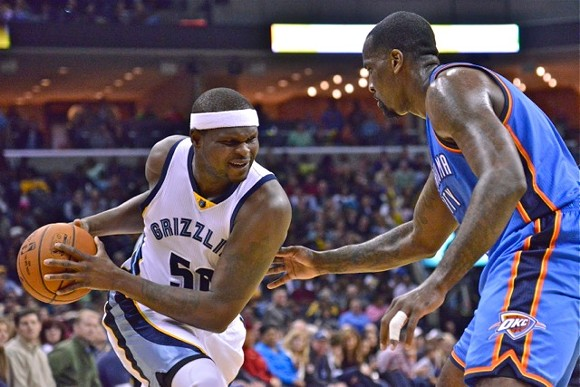Zach Randolph had 21 and 18 against the Thunder on Wrestling Night, which was very appropriate. - LARRY KUZNIEWSKI
