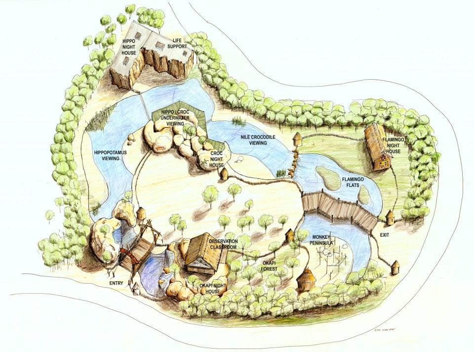 Zambezi River Hippo Camp concept