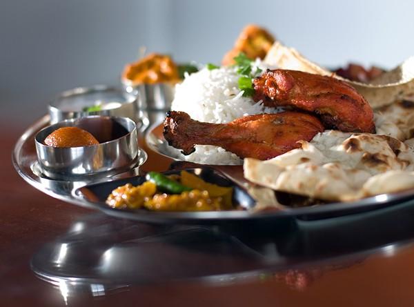A meat thali from Phulkari Punjabi Kitchen in Madison Heights.