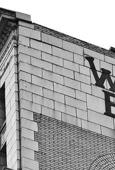 A piece of the cornice from atop the Wurlitzer Building at 1509 Broadway in Detroit recently fell 12 stories, crashing through the roof of the neighboring building, 1515 Broadway.