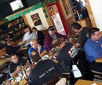 A variety of food and T-shirts at Roadkill Cafe. - MT PHOTO:  LARRY KAPLAN