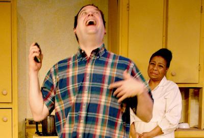 Aaron Kottke and Jenaya Jones Reynolds in Sweet Pea's Mama at the Detroit Repertory Theatre, opening this week. - BRUCE MILLAN