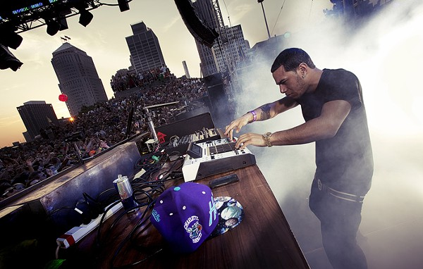 Araabmuzik throws the crowd into overdrive at Detroit's Movement festival. - COURTESY PHOTO.
