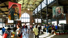 PHOTO BY NICOLE MACDONALD - Artist Nicole Macdonald's paintings of Detroit historical figures were put on display at Eastern Market.
