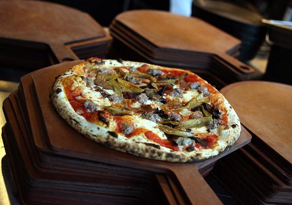 Bacco sausage pizza from Pizzeria Biga in Royal Oak.