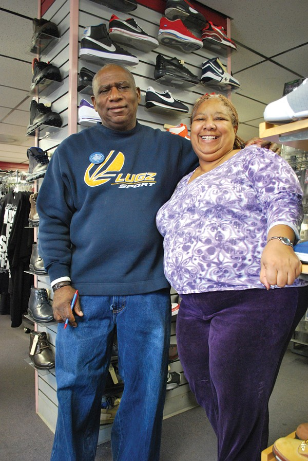 Barry and Josie Shantinique Beal inside their store