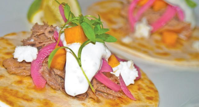 Braised lamb tacos from Tria in Dearborn. - MT PHOTO: TRAVIS R. WRIGHT