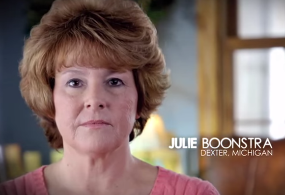 This anti-Obamacare ad from the Koch Brothers-funded Americans For Prosperity landed on the Michigan Truth Squad's list of the 10 worst campaign ads of 2014. - VIA YOUTUBE SCEENSHOT