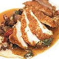 Brioche- and pine nut-crusted chicken