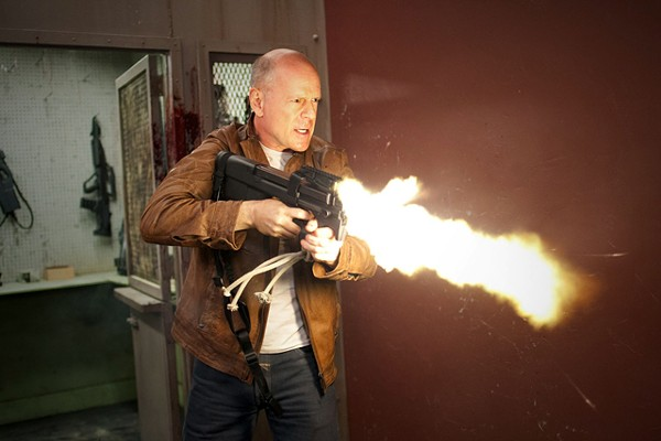 Bruce Willis in Looper, a time-travel thriller.