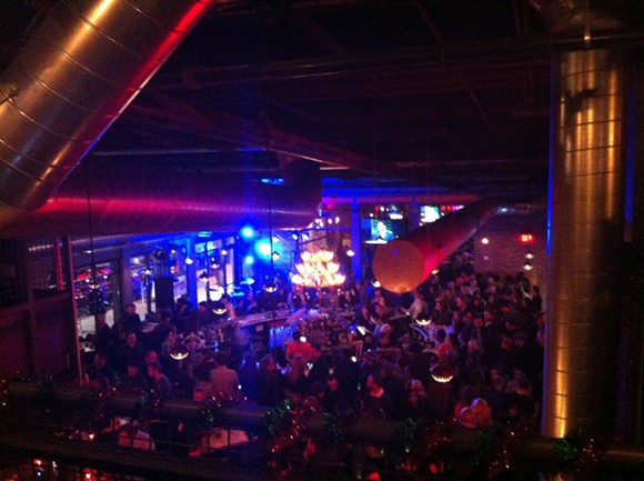 By 8 p.m., Punch Bowl Social was packed on its opening night. - RYAN FELTON