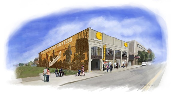 Rendering of the Carhartt retail shop in Midtown Detroit - VIA CARHARTT